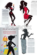 Fashion beautiful silhouette vector