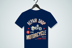 Link toFashion blue t-shirt design vector