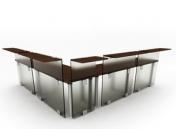 Link toFashion boutique desk combination6-5 3d model