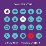 Link toFashion circle web page icons vector