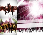 Link toFashion city people silhouettes vector