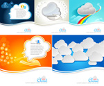 Fashion color clouds vector