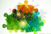Link toFashion color puzzle vector