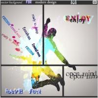 Link toFashion color splash background 02 vector