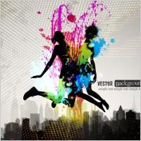 Link toFashion color splash background 03 vector
