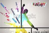 Link toFashion color splash background vector c