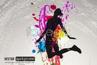Link toFashion color splash background vector ii