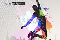 Link toFashion color splash background vector