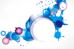 Link toFashion colored circular background vector
