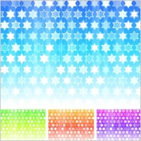 Fashion colorful background vector hexagonal