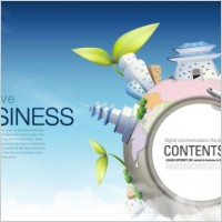 Link toFashion concept of environmental protection global business background design vector 3