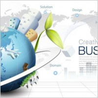 Link toFashion concept of environmental protection global business background design vector 4