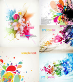Fashion cool colorful background vector
