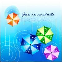 Link toFashion design background vector printed umbrellas 2