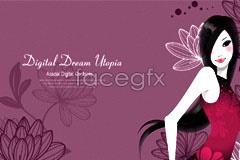 Link toFashion design pattern beautiful background vector