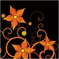 Link toFashion floral background 01 vector