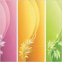 Link toFashion floral with curve background