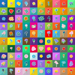 Link toFashion flowers icons vector