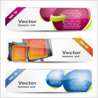 Link toFashion glossy banner 01 vector