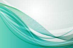 Link toFashion green wavy line background vector