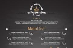 Fashion grey restaurant menu design vector