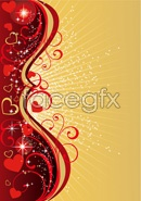 Link toFashion heart shape home page elements vector