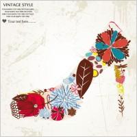 Link toFashion high heels pattern patterns 03 vector