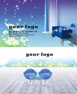Link toFashion home business cards psd