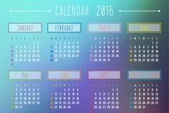 Link toFashion in 2016 calendar vector