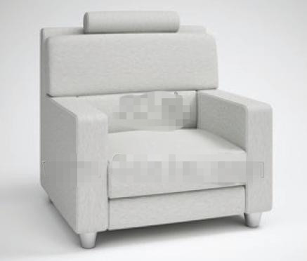 Link toFashion light gray fabric sofa 3d model