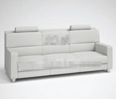 Link toFashion light gray three seats fabric sofa 3d model