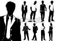 Link toFashion men's silhouettes vector
