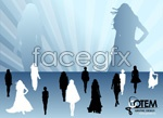 Link toFashion model silhouettes vector