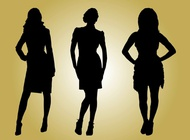 Link toFashion models silhouettes vector free