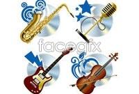 Link toFashion music music theme vector
