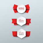 Fashion paper labels vector