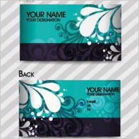 Link toFashion pattern business card template 01 vector