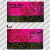 Link toFashion pattern business card template 02 vector
