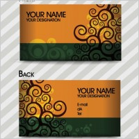 Link toFashion pattern business card template 03 vector