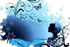 Link toFashion pattern trend beauty silhouette vector