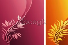Link toFashion plant pattern and dynamic lines background vector