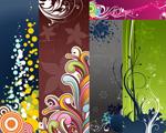 Fashion polka elements vector