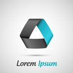 Link toFashion ribbon logo vector
