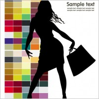 Link toFashion shopping beauty silhouette 02 vector