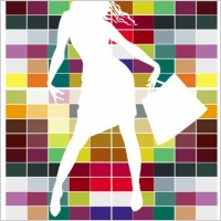 Link toFashion shopping beauty silhouette 03 vector