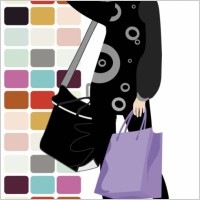 Link toFashion shopping beauty silhouette 05 vector