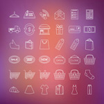 Link toFashion shopping icon vector