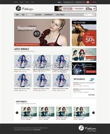 Link toFashion shopping site templates psd