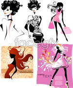 Link toFashion shopping women posters vector