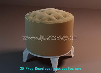Link toFashion soft stool 3d model (including materials)